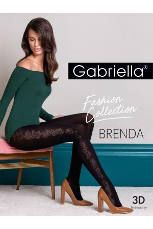 Gabriella Brenda kuvioidut mikrokuitu sukkahousut, paketti