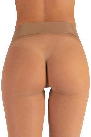 Calzitaly 15 den saumattomat sukkahousut, värin naturale housuosa