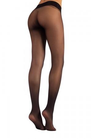 Calzitaly 15 den saumattomat sukkahousut, väri nero