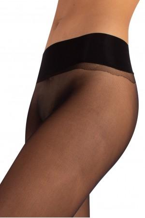 Calzitaly 15 den saumattomat sukkahousut, värin nero vyötärönauha