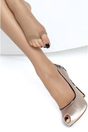 Fiore Eveline 15 den sandaalisukkahousut, varvasosa