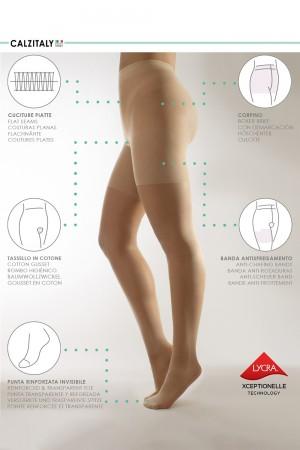 Calzitaly 20 den Plus Size sukkahousut, ominaisuudet