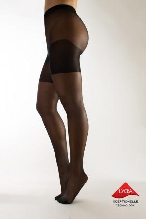 Calzitaly 20 den Plus Size sukkahousut, väri black