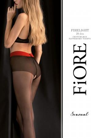 Fiore Firelight 20 den avonaiset sukkahousut kontrastisaumalla, paketti