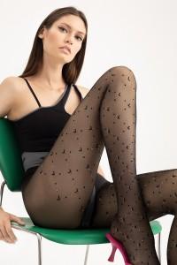 Fiore Rissa 20 den kuvioidut sukkahousut
