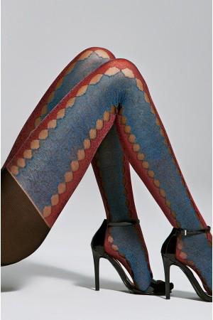 Fiore Journey 20 den kuvioidut sukkahousut, sivusta
