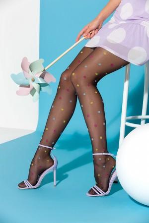Gabriella Joy kuvioidut sukkahousut, värin nero sääret