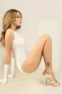 Gabriella Jess 20 den kuvioidut sukkahousut