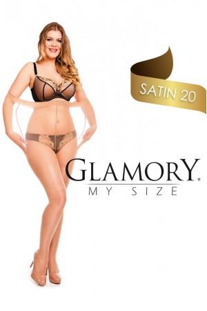 Glamory Satin 20 den kiiltävät sukkahousut, joustavuus