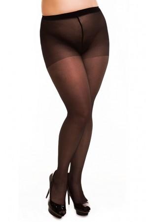Glamory Satin 20 den kiiltävät sukkahousut, musta