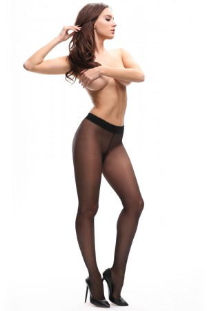 missO Classic & Exclusive 20 den sukkahousut,black edestä