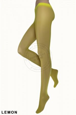 Trasparenze Oleandro Moda 20 den värikkäät sukkahousut, lemon