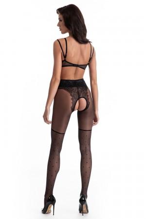 Amour Lolita 30 den avonaiset sukkahousut, väri black takaa
