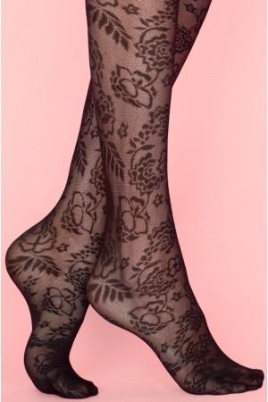 Fiore Secret Garden 40 den sukkahousut, kuviointi