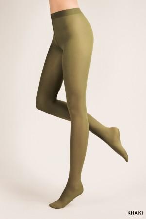 Gabriella 40 den mikrokuitu sukkahousut, väri khaki