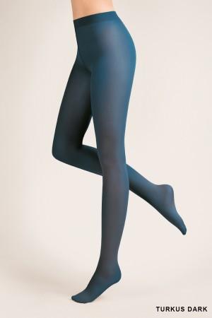 Gabriella 40 den mikrokuitu sukkahousut, väri turkus dark