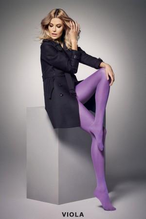Veneziana Satin 40 den värikkäät sukkahousut, väri viola