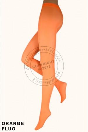 Veneziana Satin 40 den sukkahousut, fluorisoivat värit, orange fluo
