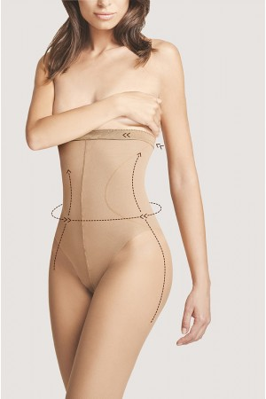 Fiore High Waist Bikini 20 den muotoilevat sukkahousut