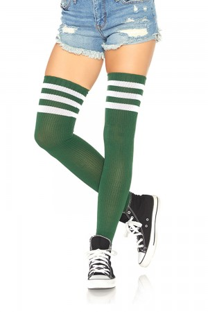 Leg Avenue Athlete ylipolvensukat, hunter green