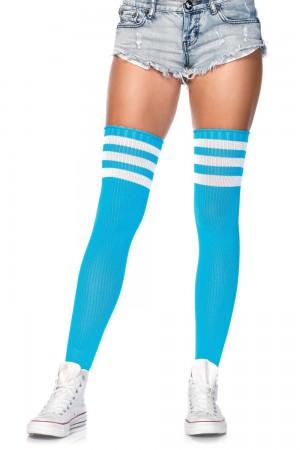 Leg Avenue Athlete ylipolvensukat, neon sininen