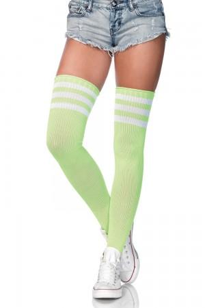 Leg Avenue Athlete ylipolvensukat, neon vihreä