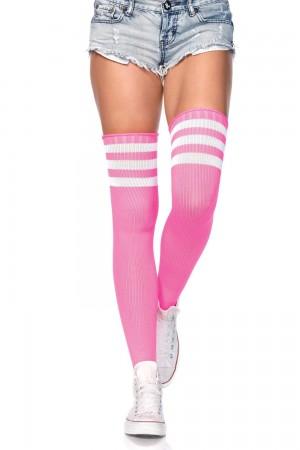 Leg Avenue Athlete ylipolvensukat, neon pinkki