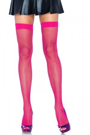 Leg Avenue Fishnet reisisukat, neon pink