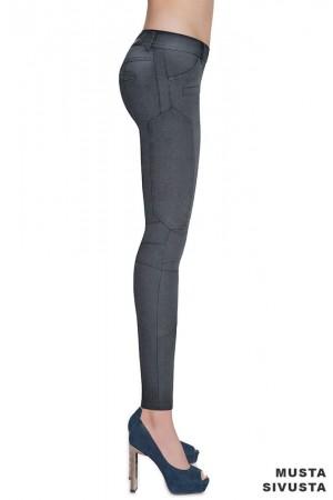 Bas Bleu Avril farkku leggingsit, musta sivusta