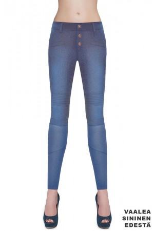 Bas Bleu Avril farkku leggingsit, vaalea sininen edestä
