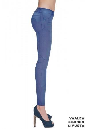 Bas Bleu Avril farkku leggingsit, vaalea sininen sivusta