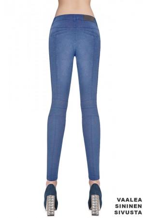 Bas Bleu Avril farkku leggingsit, vaalea sininen takaa