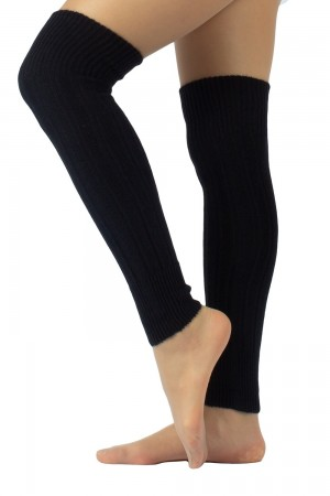 Calzitaly Angora Touch säärystimet, väri black pitkänä