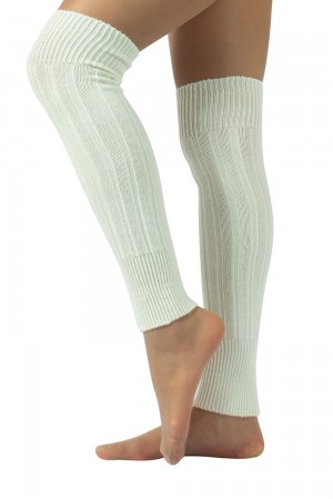 Calzitaly Angora Touch säärystimet, väri white pitkänä
