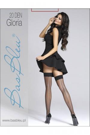 Bas Bleu Gloria 20 den verkko stay up -sukat saumalla, paketti
