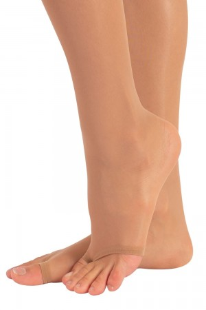 Calzitaly 10 den sandaali stay up-sukat, jalkaterä