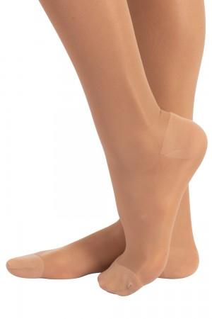 Calzitaly 70 den kompressio stay up-sukat (tukisukat), värin naturale jalkaterä