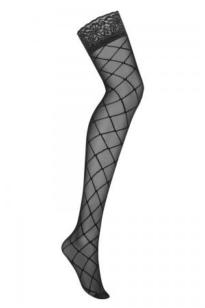 Obsessive verkkokuvioidut stay up-sukat, pelkkä sukka