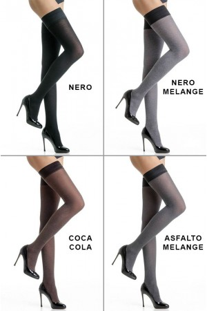 Trasparenze Melani puuvilla stay up -sukat 80 den, värit