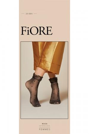 Fiore Rosa 20 den kuvioidut nilkkasukat, paketti
