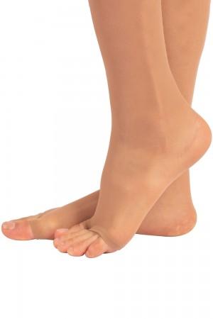 Calzitaly 10 den sandaalipolvisukat 2 paria, jalkaterä