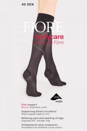 Fiore Travel Firm 40 den tukipolvisukat, paketti