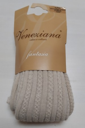 Veneziana Alpina ylipolvensukat, väri corda (köysi)
