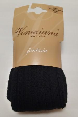 Veneziana Alpina ylipolvensukat, väri nero (musta)