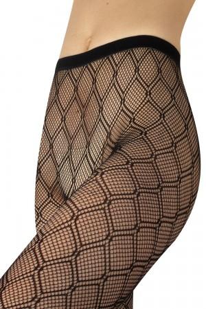 Calzitaly Diamont pattern verkkosukkahousut, housuosa