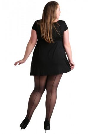 Pamela Mann Jive Plus-koon saumasukkahousut, musta / musta sauma