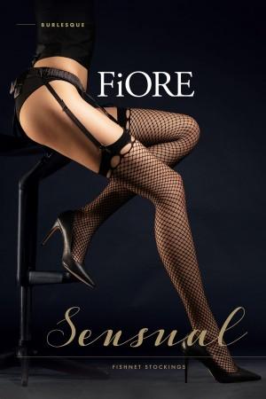 Fiore Burlesque 30 den verkko sukkanauhasukat, paketti