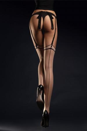 Fiore Madame 20 den sukkanauhasukat kontrastisaumalla