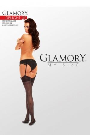 Glamory Delight 20 den sukkanauhasukat saumalla, paketti