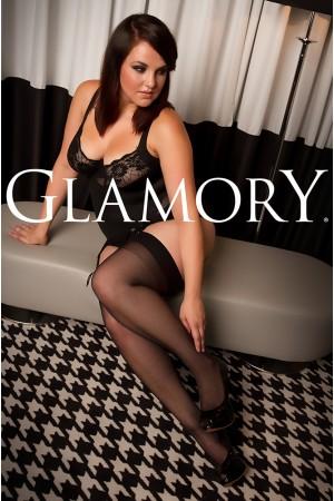 Glamory Delight 20 den sukkanauhasukat saumalla, edestä
